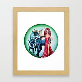Taurus Zodiac Sign Framed Art Print