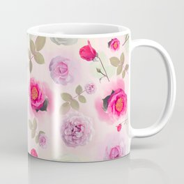 seamless   pattern with rose flowers . Endless texture Coffee Mug