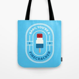 Punny Pops: Firecracker Tote Bag
