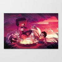 steven universe Canvas Prints featuring Steven Universe by Attyca
