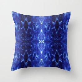 Ikat Shibori Blues Throw Pillow
