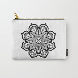 Black and White Flower Carry-All Pouch