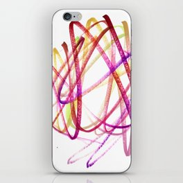 Edgy Expressive Marker Warm Colors Abstract iPhone Skin