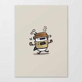Latte Bot Canvas Print