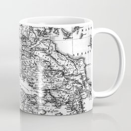 Vintage Map of Greece (1903) BW Coffee Mug