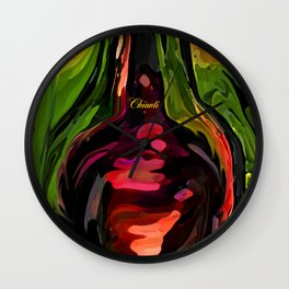 YOU ME AND CHIANTI IN THE GARDEN Wall Clock