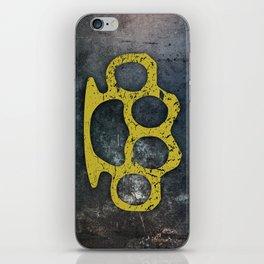 Brass Knuckles iPhone Skin