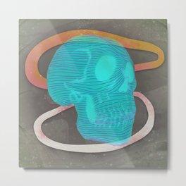 Glow Skull Metal Print