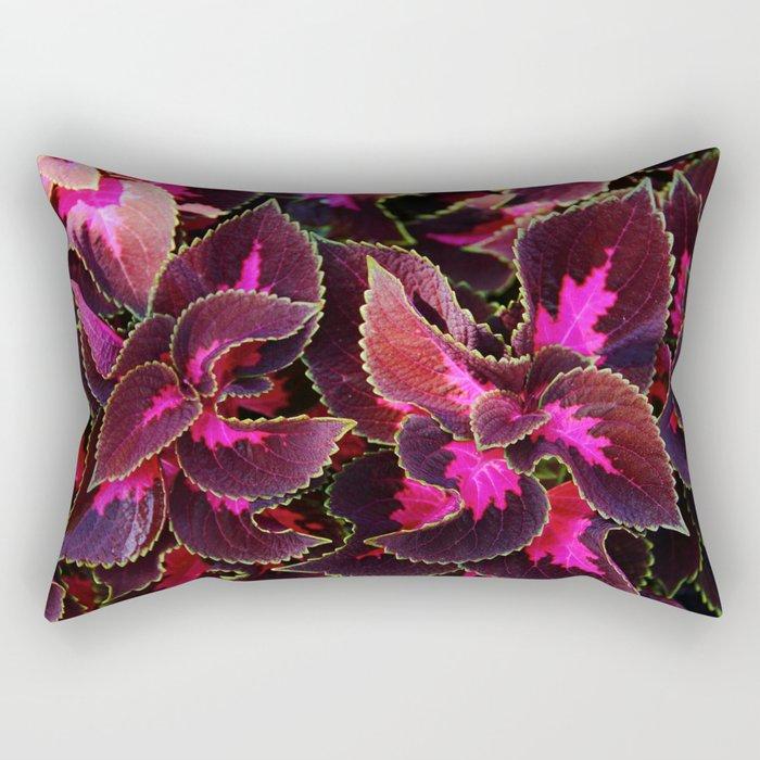 Intricate Coleus Design Rectangular Pillow
