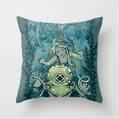 s'accrocher à l'amour Throw Pillow