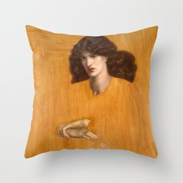 Dante Gabriel Rossetti, The Lady of Pity, 1881 Throw Pillow