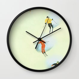 Skiing at High Speeds Wall Clock