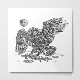 Space Eagle Metal Print