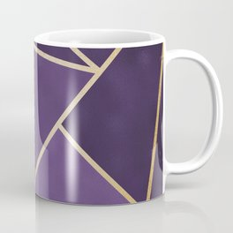 Beautiful Amethyst Gold Geometry Art Coffee Mug