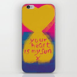 Your heart is my sun iPhone Skin