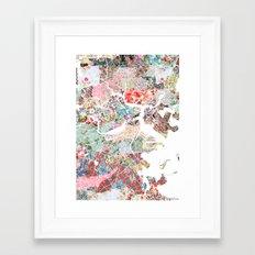 Boston map portrait Framed Art Print