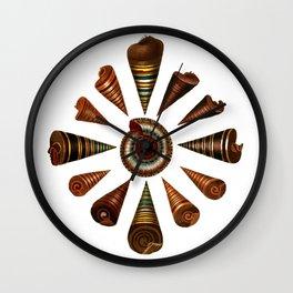 Top-Shaped Shells Wall Clock