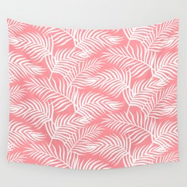 Palm Leaves_Pink Wall Tapestry