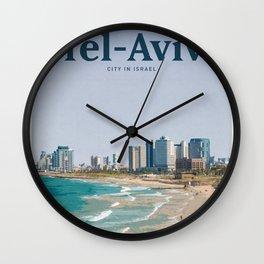 Visit Tel-Aviv Wall Clock