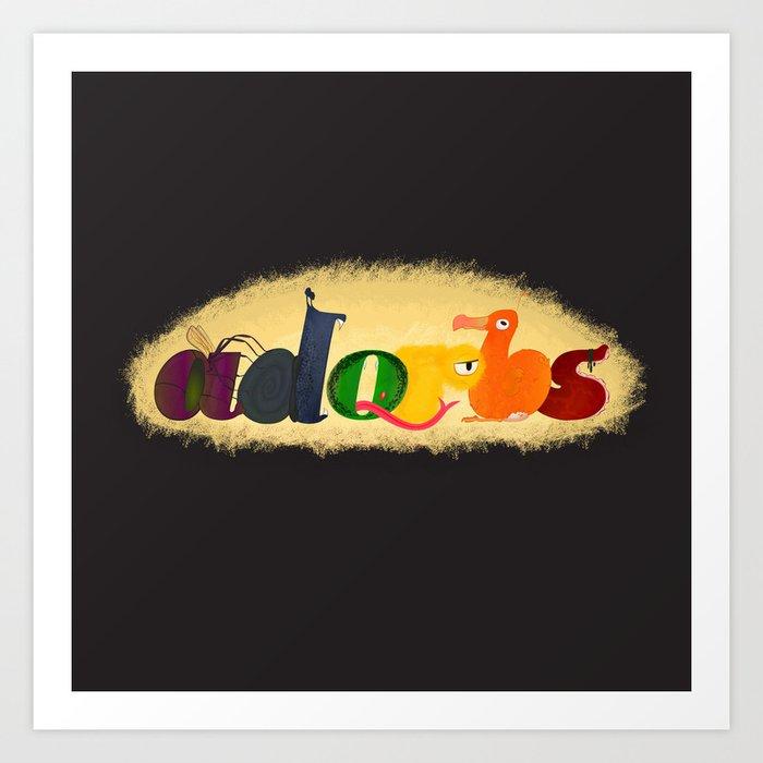 Adorbs [Monsters] Art Print