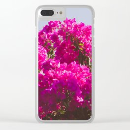 Pink Flowers in Bloom Clear iPhone Case