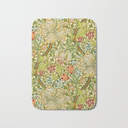 William Morris Golden Lily Vintage Pre-Raphaelite Floral Art Bath Mat