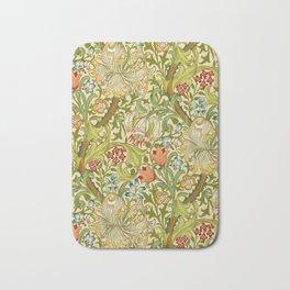 William Morris Golden Lily Vintage Pre-Raphaelite Floral Art Bath Mat