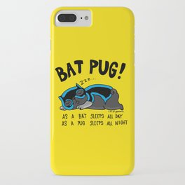Black Bat Pug! iPhone Case
