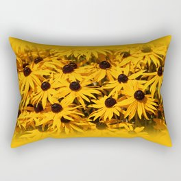 A Bed of Bloomin' Rudbeckias Rectangular Pillow