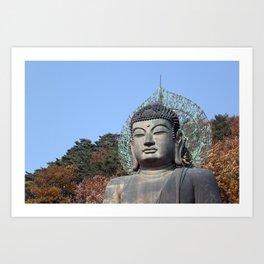 Autumn Buddha Art Print