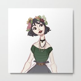 Daisy-Rose's flower crown Metal Print