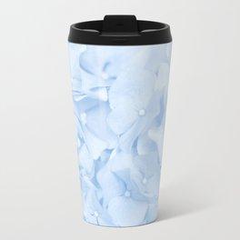 Hydrangea Flowers in Pastel Blue Color #decor #society6 Travel Mug