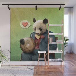 Wise Panda: Love Makes the World Go Around! Wall Mural