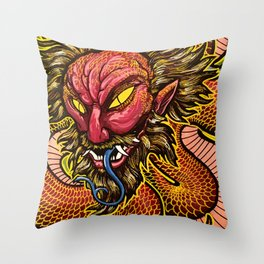 Zhulong Dragon Throw Pillow