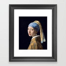 GIRL WITH A PEARL EARRING - JOHANNES VERMEER Framed Art Print
