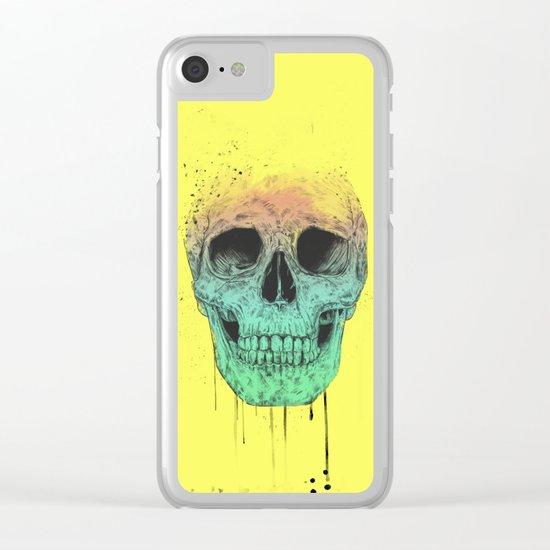 Pop art skull  Clear iPhone Case