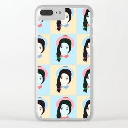Cute Girls Clear iPhone Case