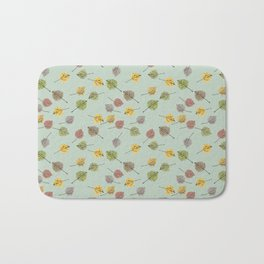 Colorado Aspen Tree Leaves Hand-painted Watercolors in Golden Autumn Shades Bath Mat