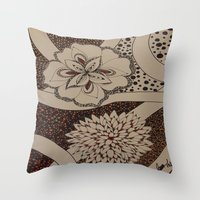 fierce Throw Pillows featuring Fierce by fawnadine