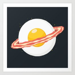 Outer space breakfast Art Print