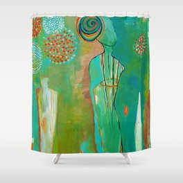 """Wish Believe"" Original Painting by Flora Bowley Shower Curtain"