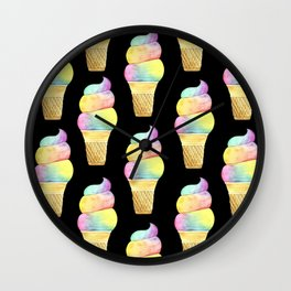 Rainbow Ice Cream Wall Clock