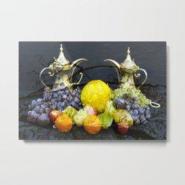 Surreal Food Still Life Metal Print