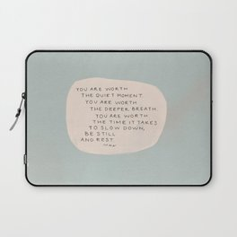 Be Still And Rest. Laptop Sleeve