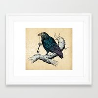 key Framed Art Prints featuring Raven's Key by Rachel Caldwell