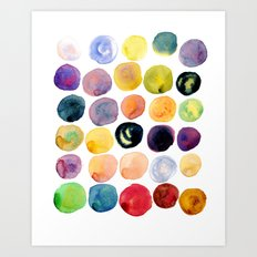 Watercolor Constellation Art Print
