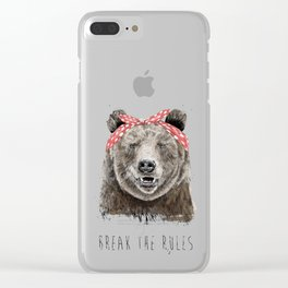 Break the rules (color version) Clear iPhone Case