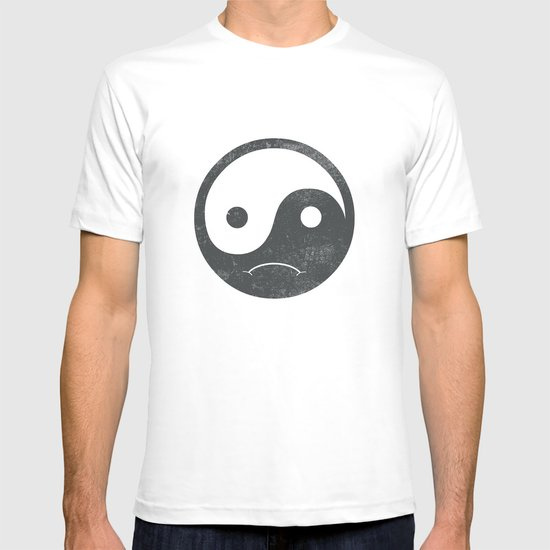 yin yang smiley ;-( T-shirt