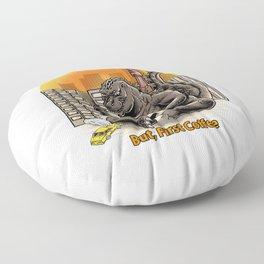 Coffeezilla Floor Pillow