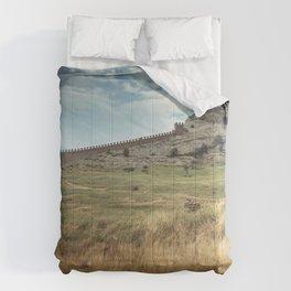 Gorgeously Gracious Historic Genoese Fortress Sudak Crimea Ukraine Europe Ultra HD Comforters